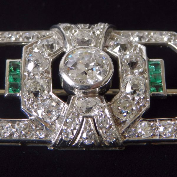 Picture of WHITE GOLD BROOCH