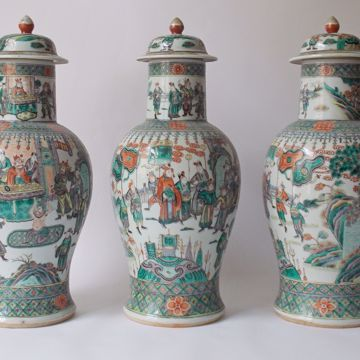 Picture of THREE LIDDED VASES